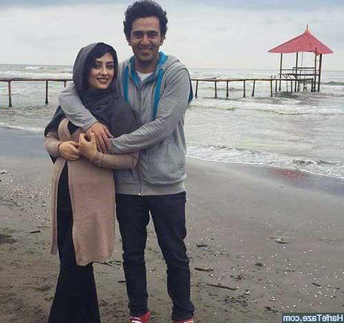 تصویر الهام طهموری و همسرش