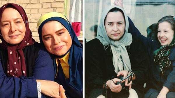عکس کودکی مهراوه شریفی نیا همراه با مادرش