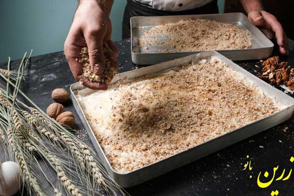 آموزش پخت باقلوا